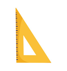School triangle ruler measure isolated icon design vector