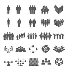 set grouping people icons vector image
