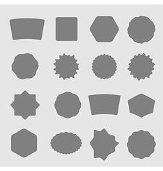 Set of black shield retro vintage badges and label vector image
