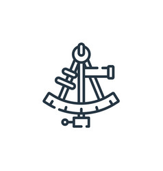 Sextant icon isolated on white background outline vector