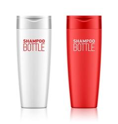 Shampoo bottle template vector image