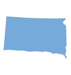 South dakota state map vector