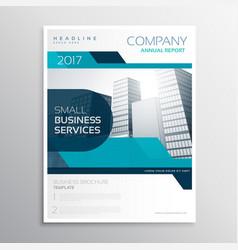 stylish blue business brochure creative design vector image