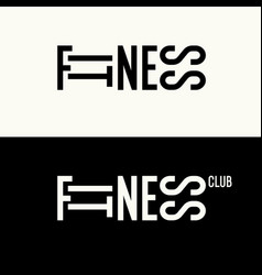 stylish inscription fitness time for design and vector image