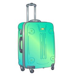 suitcase trolley case vector image