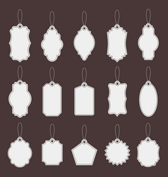 tag labels paper vintage price tag mockups vector image