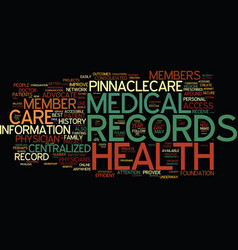 The need for centralized medical records text vector