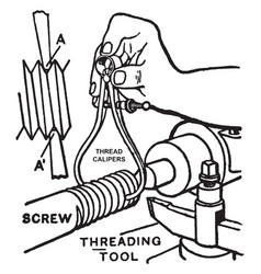 Thread calipers vintage vector