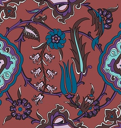 Tile oriental floral ethnic drawing pattern flower vector