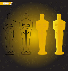 Victory ceremony theater and film actors vector