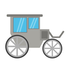 vintage carriage symbol vector image