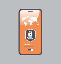 Virtual private network cyber web security and vector