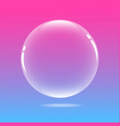 Water bubble with pink and blue vector