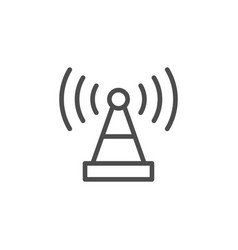 wireless antenna line icon vector image