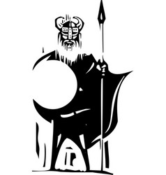 woodcut viking vector image