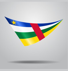 central african republic flag background vector image