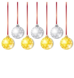 Gold and Silver Christmas Balls vector image vector image