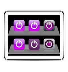 Power purple app icons vector image