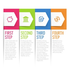 Sequential text boxes design element vector image
