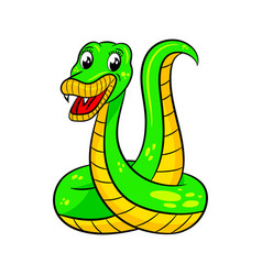 cute cartoon snake vector image