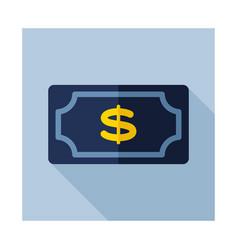 Dollar money banknote icon vector