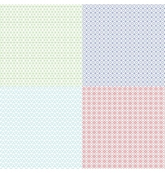 Guilloche patterns set for voucher vector