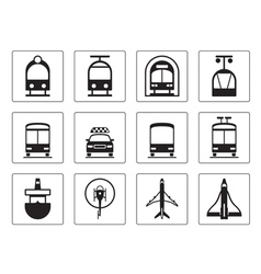Public vehicles icons set vector image