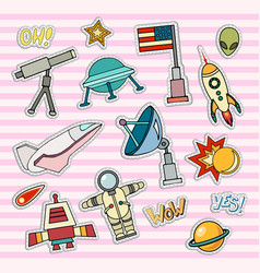 space patch badges vector image vector image