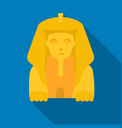 sphinx icon in flat style isolated on white vector image vector image