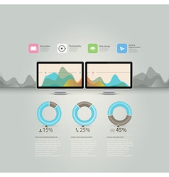 Technology infographics vector image vector image