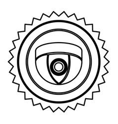 Emblem video camera interior icon symbol video vector