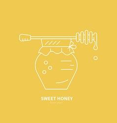 Jat with Honey vector image