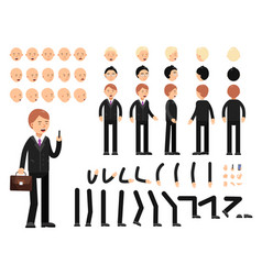 key frames of business characters creation mascot vector image vector image