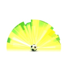 Light Banner Round Form with Soccer Ball vector image vector image