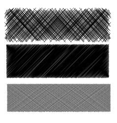 Set of Black Diagonal Strokes Patterns vector image vector image