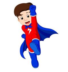 superhero kid cartoon vector image