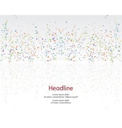Background Serpentine and confetti vector image