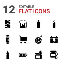 12 full icons vector