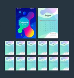 2019 calendar desk calendar modern design vector