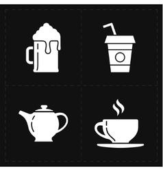 4 modern flat bar icons vector image