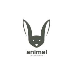 Abstract animal face logo template Rabbit vector image