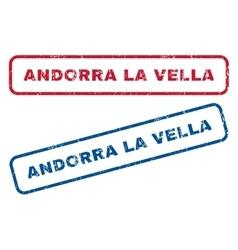 Andorra la vella rubber stamps vector