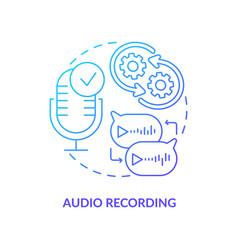 audio recording blue gradient concept icon vector image