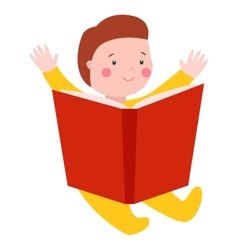 Baby kid read book vector image