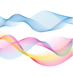 beautiful multicolored waves vector image