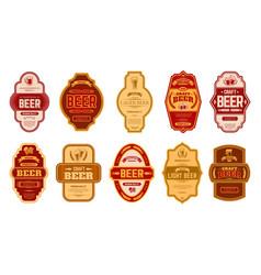 Beer vintage labels retro beers brewery badges vector