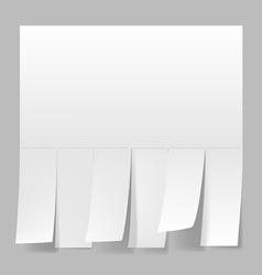 Blank advertisement vector image