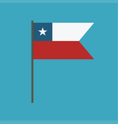 chile flag icon in flat design vector image