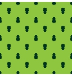 Christmas fir tree seamless pattern vector