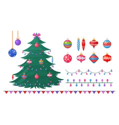 christmas tree with vector image